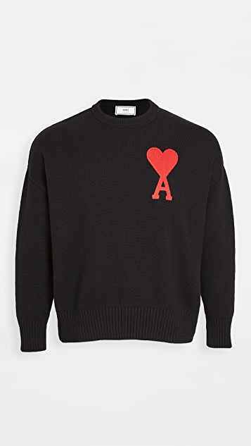 AMI Big AMI Heart Logo Sweater