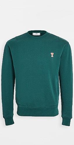 AMI - Small AMI Heart Logo Crew Neck Sweatshirt