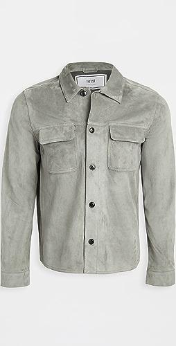 AMI - Suede Shirt Jacket