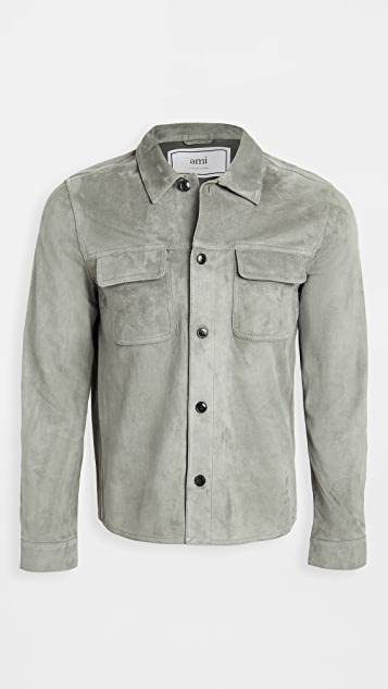 AMI Suede Shirt Jacket