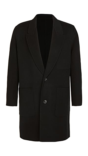 AMI Virgin Wool Cashmere Unconstructed Coat