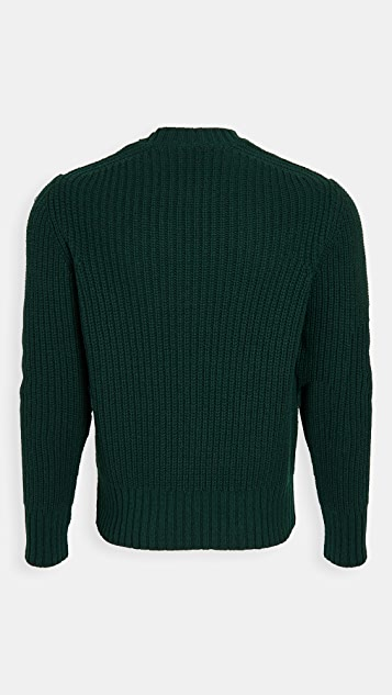AMI Alpaca Crew Neck Sweater