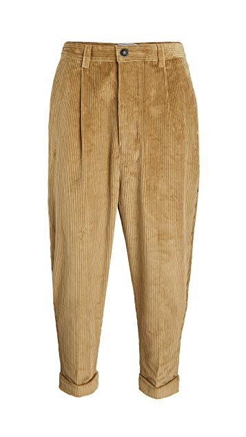 AMI Wide Wale Corduroy Carrot Fit Trousers