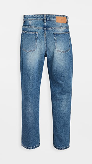 AMI Tapered Fit Denim Jeans