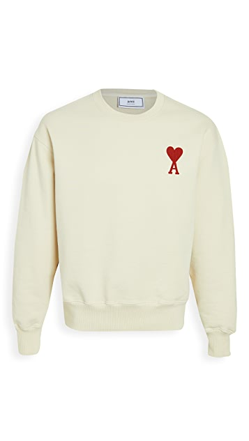 AMI Big Heart Crew Neck Sweatshirt