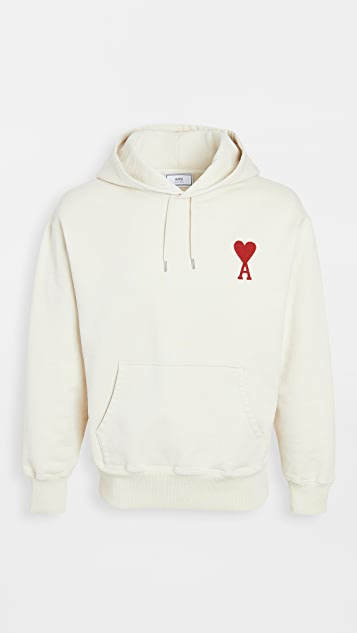 AMI Big Heart Relaxed Fit Pullover Hoodie