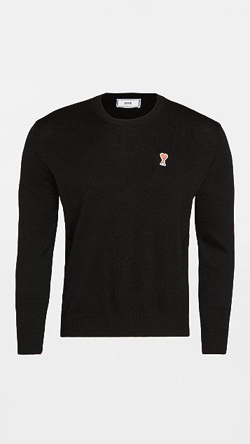 AMI AMI Heart Logo Crew Neck Sweater