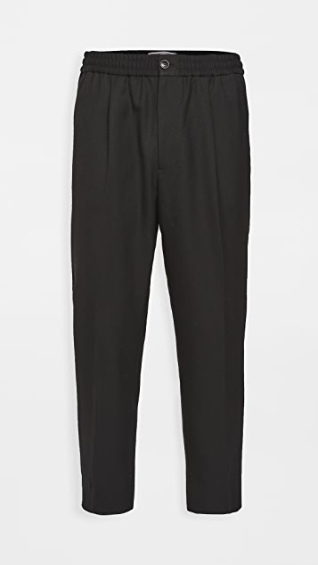 AMI Elasticized Waist Trousers
