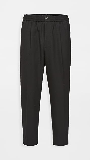 AMI Elasticized Waist Trousers