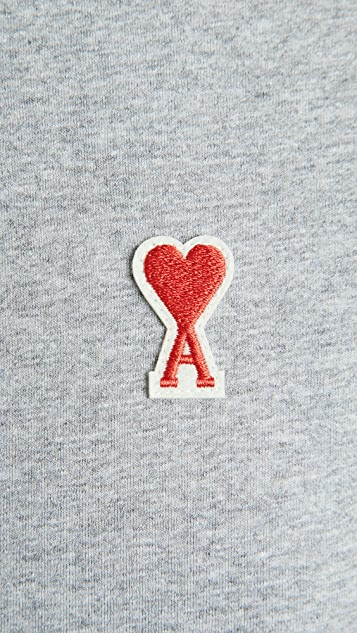 AMI Small AMI Heart Logo T-Shirt