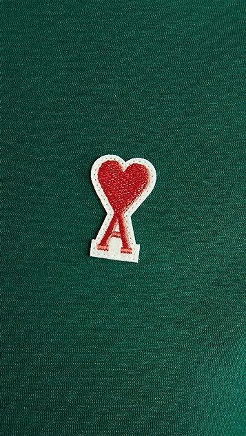 AMI Small AMI Heart Logo T-Shirt