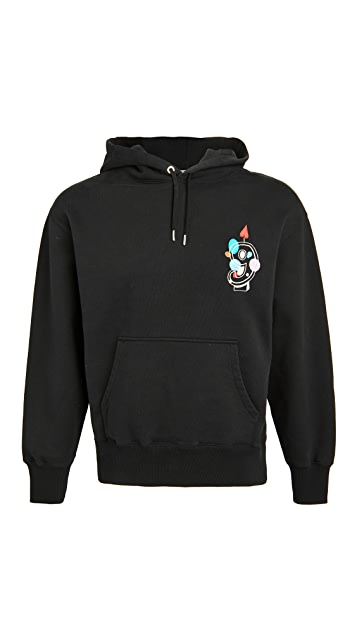 AMI 9 Embroidered Hoodie
