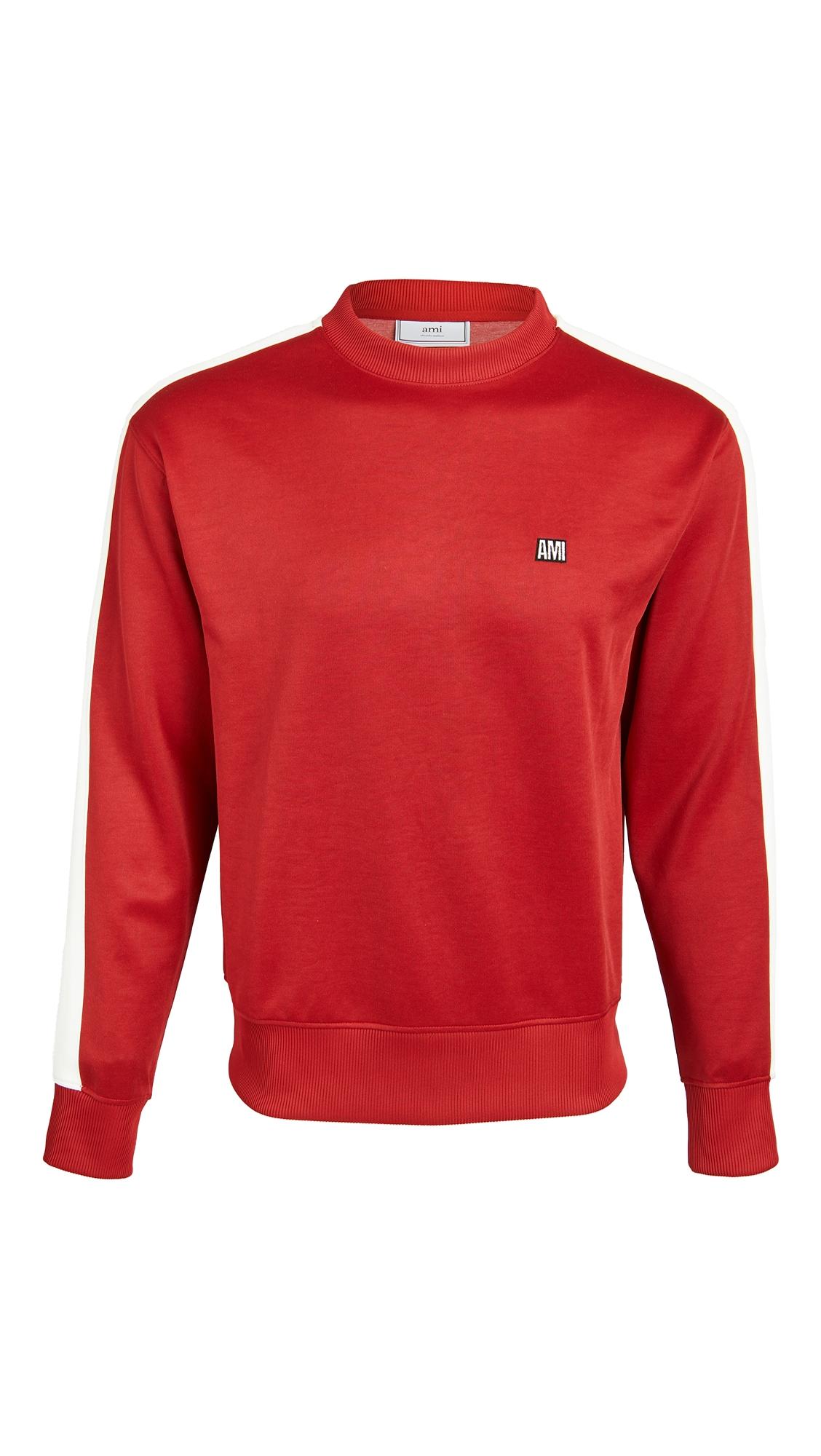 Ami Alexandre Mattiussi Embroidered Sweatshirt In Red