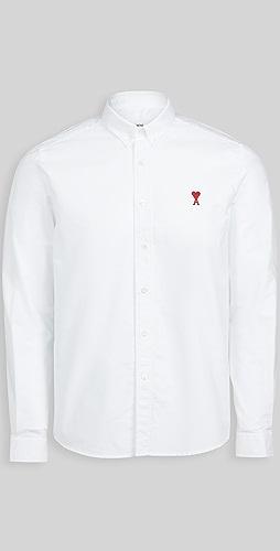 AMI - Small AMI Heart Button Down Shirt