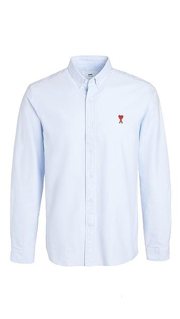AMI Small AMI Heart Button Down Shirt