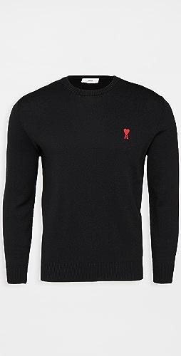 AMI - AMI Small A Heart Pullover Sweater