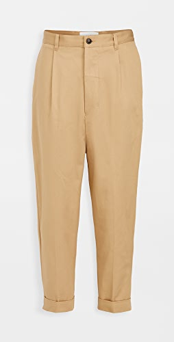 AMI - Cotton Oversized Carrot Fit Trousers