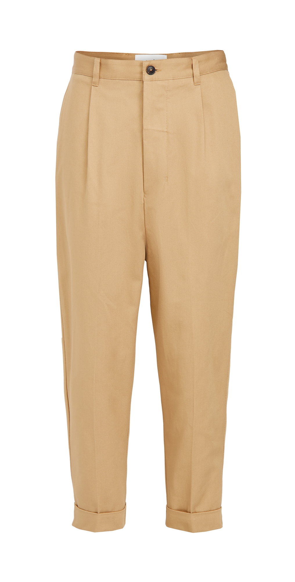 Cotton Oversized Carrot Fit Trousers
