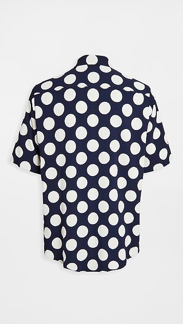 AMI Polka Dot Printed Shirt