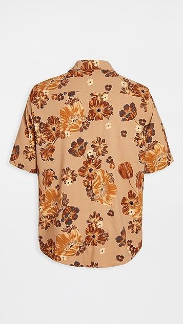AMI Flower Printed Shirt