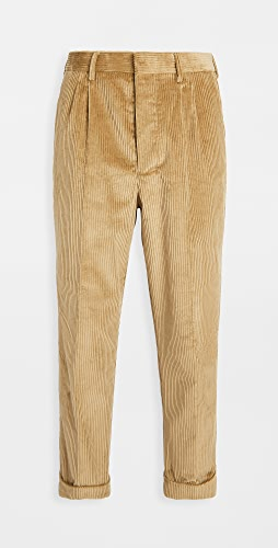 AMI - Pleated Carrot Fit Corduroy Trousers