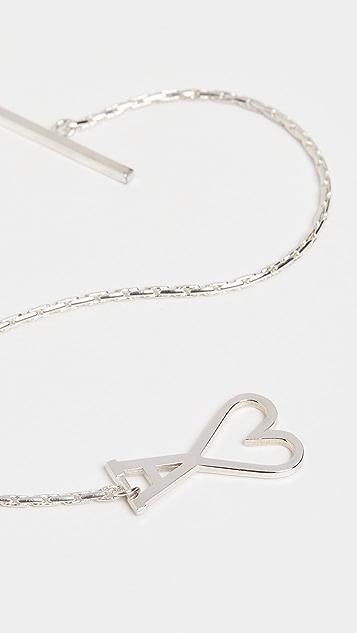 AMI Chain Bracelet with Ami De Coeur Clasp
