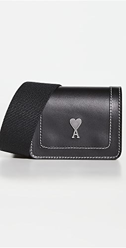 AMI - Compact Wallet with Leather Strap