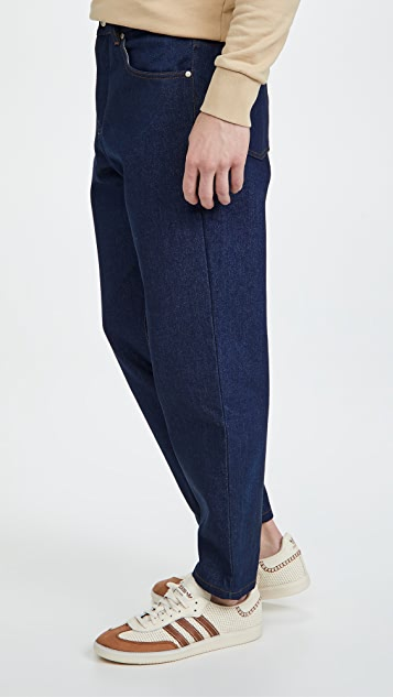 AMI Men Tapered Fit 5 Pockets Jeans