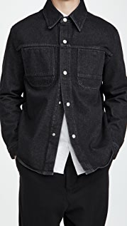 AMI Denim Press Buttons Overshirt
