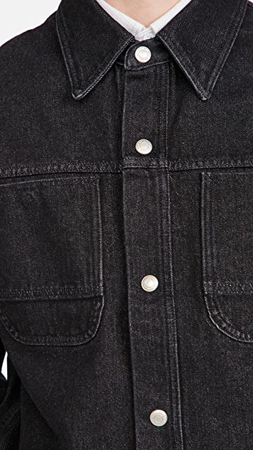 AMI Denim Press Buttons Overshirt