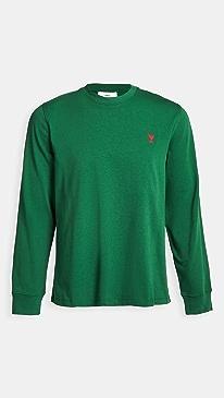 아미 티셔츠 Ami De Coeur Long Sleeve Tee-Shirt,Green