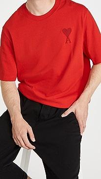 아미 티셔츠 Ami De Coeur T-Shirt,Red