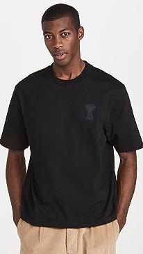 아미 티셔츠 AMI Jersey Short Sleeve,Black