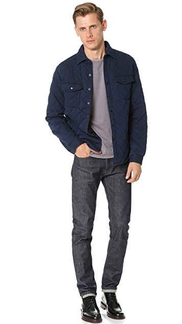 Alex Mill Quilted Indigo Shirt Jacket