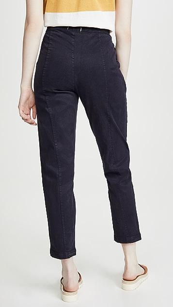 Alex Mill 抽绳水洗斜纹织物九分裤