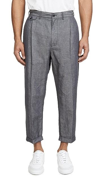 Alex Mill Mini Herringbone Pleated Trousers