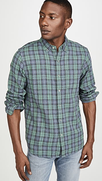 Alex Mill Double Gauze Plaid Button Down Shirt