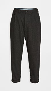 Alex Mill Herringbone Wool Pleated Pants
