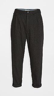 Alex Mill Herringbone Wool Pleated Pants