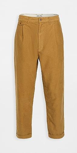 Alex Mill - Moleskin Pleated Trousers