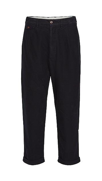 Alex Mill Moleskin Pleated Trousers