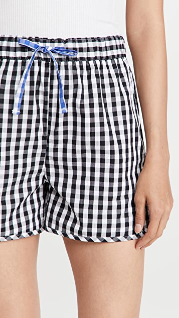 Alex Mill Sunny Pull On Shorts in Gingham