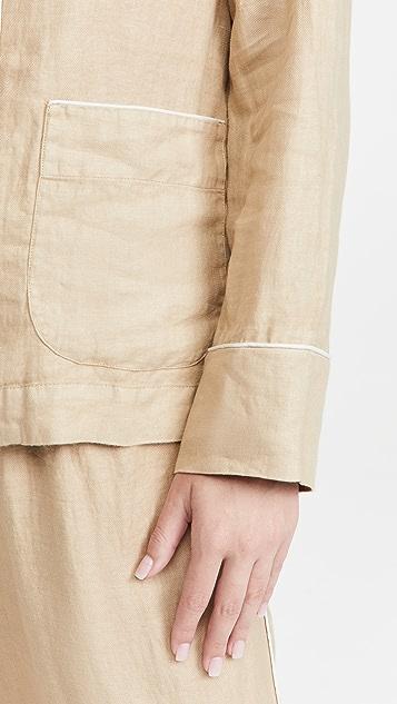 Alex Mill PJ Shirt Jacket in Linen