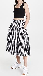 Alex Mill Pull On Skirt In Gingham