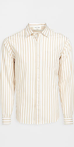 Alex Mill - Portuguese Poplin Striped Easy Shirt