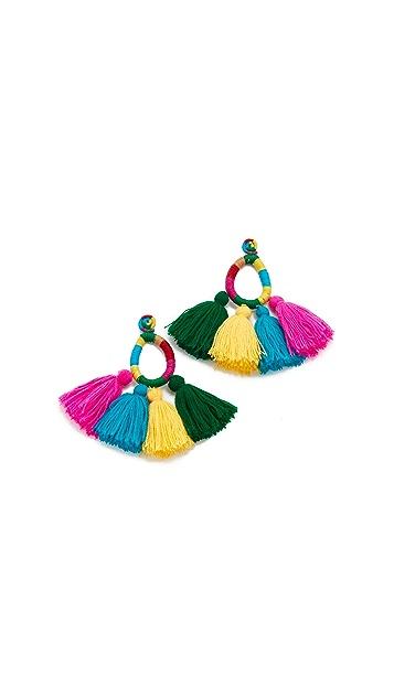 All Things Mochi Moroccan Funfair Tassel Earrings