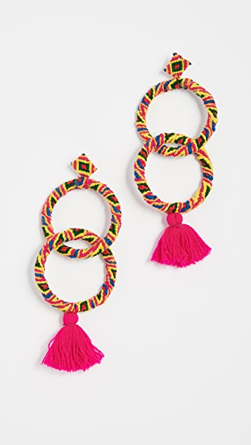 All Things Mochi Maggie Earrings - Pink