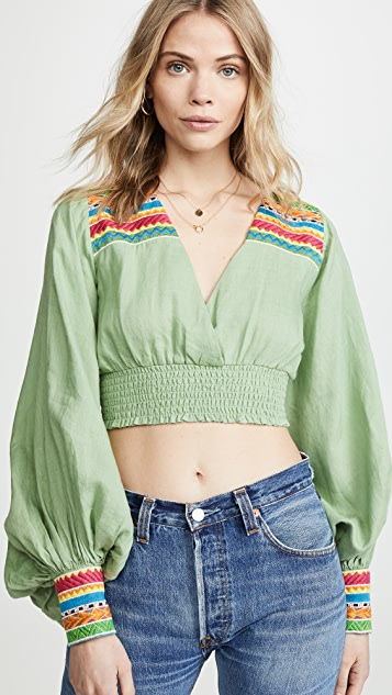 All Things Mochi Cora Top - Green