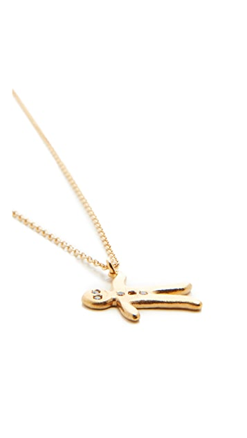 Alex Monroe Gingerbread Man Necklace