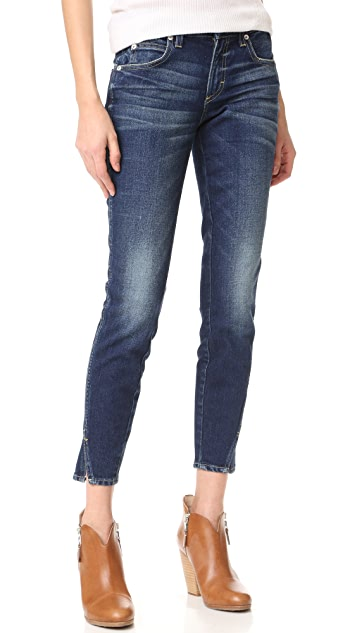 AMO Twist Skinny Ankle Jeans - True Blue